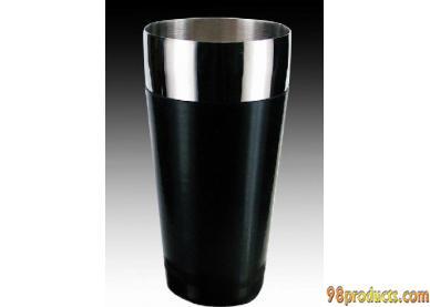 包胶调酒杯(黑色胶皮款)